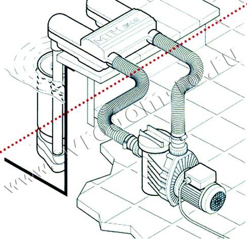 корпус скиммера, трубы для